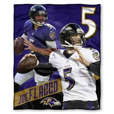 Baltimore Ravens NFL Joe Flacco Silk Touch Throw (50in x 60in)