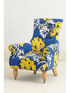 This gorgeous chair from @Anthropologie adds that subtle pop of yellow missing from your living room! http://www.ivillage.com/home-decor-pantone-s-top-spring-color-dazzling-blue/7-a-546768