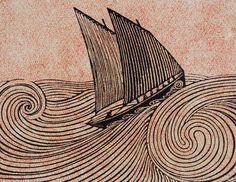 René Quillivic, Le voilier, 1920, gravure sur bois (Brest, musée des Beaux-Arts…