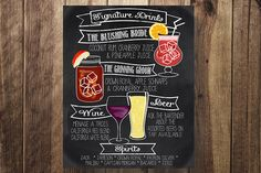 Display your creativity with signature drinks and DIY this customizable and printable cocktail menu.