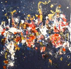 PINEAULT UNCOMMON ART  Carnival in Venice.  This is a Play Date painting, a splashing time of fun and abandon.  Then I realized it reminded me a night in Venice and it all came together!  10 inches by 10 inches abstract acrylic on canvas. Original and prints.