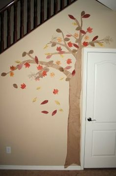 LOVE this Gratitude tree- love the simplicity & size & how it fits perfectly in the space