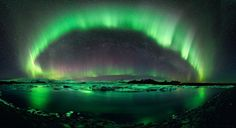 A starry night in Iceland