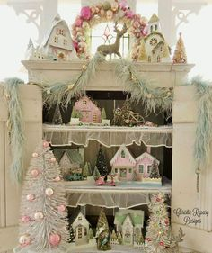 """120 Likes, 10 Comments - Christie Hansen-Repasy (@christie_repasy) on Instagram: """"Sharing some of my glitter houses and Christmas items that will be on sale in my booth at the…"""""""