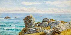 'ON THE CORNISH COAST' (1880) | John Brett     ✫ღ⊰n