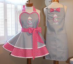 mamamadison on Etsy Chef Dress, Apron Dress, Free Printable Sewing Patterns, Free Sewing, Sewing Aprons, Sewing Clothes, Dress Up Storage, Apron Tutorial, Cute Aprons