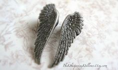 Wing Plugs for Gauged Ears Size 00, 0, 2, 4, 6, 8,10,12,14 gauge, Also available as regular earrings on Etsy, $29.99