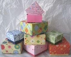 Como hacer cajitas de regalos con papel