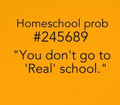 I hate when people do this or they say that homeschoolers aren't as smart as people who go to regular school I'm like we'll you have never been homeschooled so how could you know how smart we are ._. It's actually been proven that homeschoolers are likely to be smarter than public schoolers.