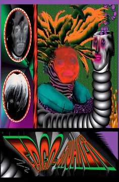 Gross-out collages from visual artist Ben Mendelewicz Arte Cyberpunk, Plakat Design, School Of Visual Arts, Digital Print, Graphic Design Posters, Psychedelic Art, Cool Posters, Grafik Design, Collages