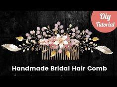 DIY Golden Bridal Hair Comb Tutorial [Eng subs] - YouTube