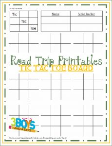 Road Trip Printables for Kids:  Tic Tac Toe