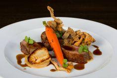 Icelandic Free-Range Lamb - roasted rack of lamb, sunchokes, wild mushrooms, carrots and Madeira glaze #Luma #Toronto #Restaurant #Food #TasteofIceland
