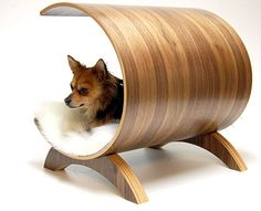 Plywood Walnut Dog Lounge - design Vurv Design