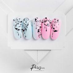 No photo description available. Acrylic Nail Designs, Nail Art Designs, Acrylic Nails, Arabesque, Swirl Nail Art, Linear Art, Korean Nails, Gelish Nails, Xmas Nails