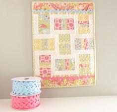 """auction #22 ~ """"little lady"""" mini quilt"""