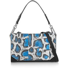 McQ Alexander McQueen Vail leopard-print elaphe and textured-leather... ($890) ❤ liked on Polyvore