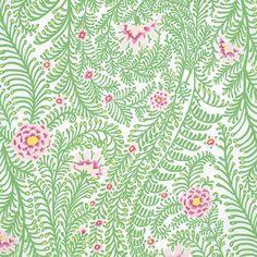 Ferns - White, Kaffe Fassett, PWGP147 per 1/2 yard - Hyggeligt Fabrics