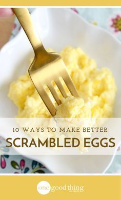 Don't settle for a boring breakfast. Check out these 10 ingredients you can add to your scrambled eggs to add flavor, texture, and taste!