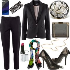 Ready for tonight's Tribeca Film Festival Premiere? Now premiering: this flawless look pairing a tailored blazer & pants with a sleek clutch for an added touch of elegance. The essential black suit goes from desk to fête in a New York minute. A silk scarf in place of your shirt garners instant décolletage. Finish with a pair of Fergie pumps guaranteed to make this look a hit & garner rave reviews!