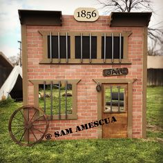 Western theme Birthday party- old west jail- cowboy and cowgirl party- Wild West sheriff station- jail house photo booth prop