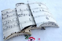 Vintage Sheet Music Gift Pillow Box   - Eco Friendly - Recycled ... make these for musician gift card gifts