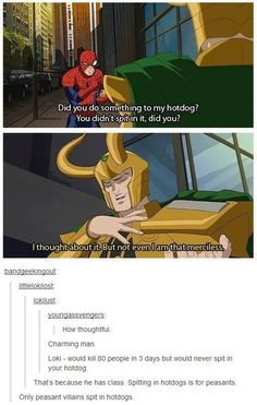 Loki your Hiddleston is showing Avengers Memes, Marvel Jokes, The Avengers, Marvel Funny, Marvel Dc Comics, Spiderman Marvel, Batman, Dc Memes, Funny Memes
