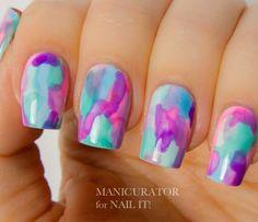 Nail Art How To, Nail Designs, Tutorial, Watercolor, China Glaze, OPI, Seche Vite   NailIt! Magazine