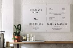 love this menu board. Melanie Giles Cafe / Cereal Magazine