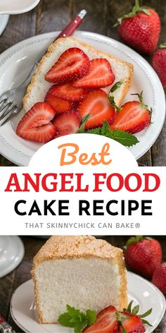 Angel Food Cake Recipe - With tips and tricks to make sure your cake is light, fluffy and incredibly delicious! The best from scratch recipe. Easy No Bake Desserts, Homemade Desserts, Delicious Desserts, Cheesecake Desserts, Köstliche Desserts, Birthday Desserts, Strawberry Desserts, Kitchen Recipes, Baking Recipes