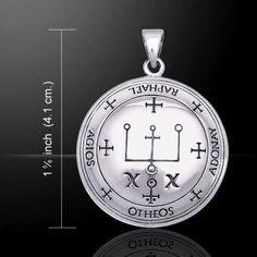 Archangel Raphael Talisman .925 Sterling Silver Sigil of Raphael Angelic Pendant