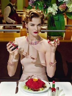 Carmen Kass by Miles Aldridge for Vogue Italia Couture