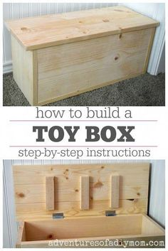 toy box Learn to build a small toy box. Step-by-step instructions, including materials list, and cut list. Assemble the toy box with easy to instructions with pictures. Easy Woodworking Projects, Diy Pallet Projects, Fine Woodworking, Wood Projects, Woodworking Techniques, Woodworking Basics, Woodworking Books, Woodworking Classes, Popular Woodworking