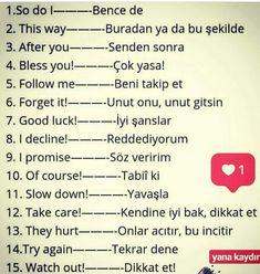 Basic English Sentences, English Grammar, Vocabulary Journal, Turkish Lessons, Learn Turkish Language, English Writing Skills, Adverbs, American English, Learning