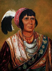 Native American Indian Painting - Osceola The Black Drink A Warrior Of Great Distinction By John Travisano After George Catlin by John Travisano