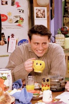 I made a smiley mug exactly like this in ceramics, drank my oj out of it every morning.