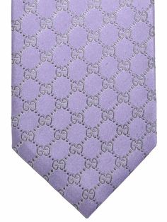 Gucci Tie Lilac Gray GG Pattern Gucci Scarf, Lilac Grey, Designer Ties, Beach Ceremony, Men's Collection, A8, Fabric, Pattern, Tela