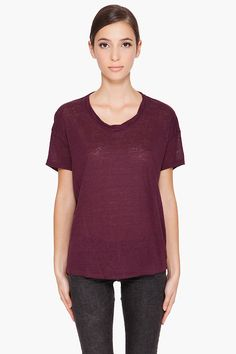 Acne Bay Linen T shirt, $98.00  #Acne