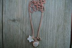 Ball chain neckless with a star and white stone  € 16,95 www.debs-store.com