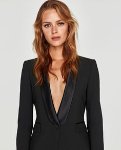 6de7160e21 Image 6 of TUXEDO BLAZER from Zara Suits For Women