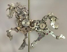Watch sculptures and steampunk art by Sue Beatrice - Beauty will save