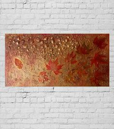 Large ORIGINAL Textured Abstract Contemporary Art Metallic Modern Painting Sculptural Work Wall Decor