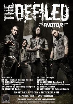 The Defiled announce a string of winter UK dates. Tickets are on sale at 9am on Wednesday July 9, priced at £11.00 (£12.50 in London), plus ...