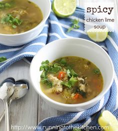 Spicy Chicken Lime Soup @ Running To The Kitchen