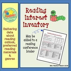 Reading interest inventories are tools to help gain insight to students interests.  The data collected helps identify what genres students may be interested in reading.  The goal is to assist students in becoming successful at identifying books that might be of interest to them without causing frustration.