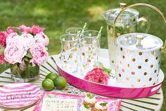 kate spade new york party decor makes any outdoor soirée fabulous!