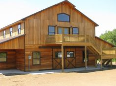 pole barns   Stall wood barn with apartment in 2nd story   Pole ...