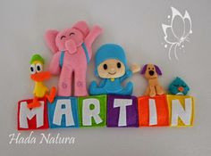 Hada Natura: Martín Pocoyo Baby Crafts, Felt Crafts, Felt Ornaments, Christmas Ornaments, Pattern Names, Baby Patterns, Baby Names, First Birthdays, Dinosaur Stuffed Animal