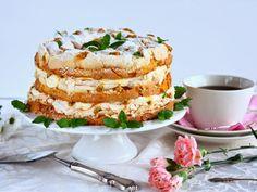 Ihana Mango-passion Britakakku - Suklaapossu Vanilla Cake, Yummy Treats, Camembert Cheese, Mango, Pie, Sweets, Cookies, Baking, Breakfast