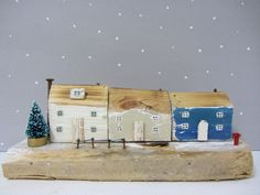 Handmade from Cornish driftwood and reclaimed beach huts painted with soft chalk paints. Christmas driftwood. | eBay!